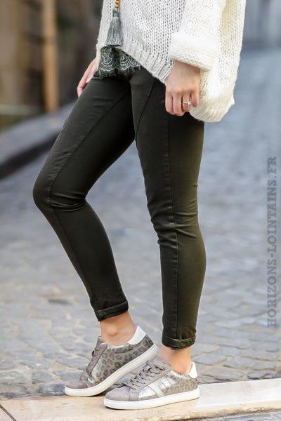 pantalon-bi-matière-vert-kaki-femme-look-moderne