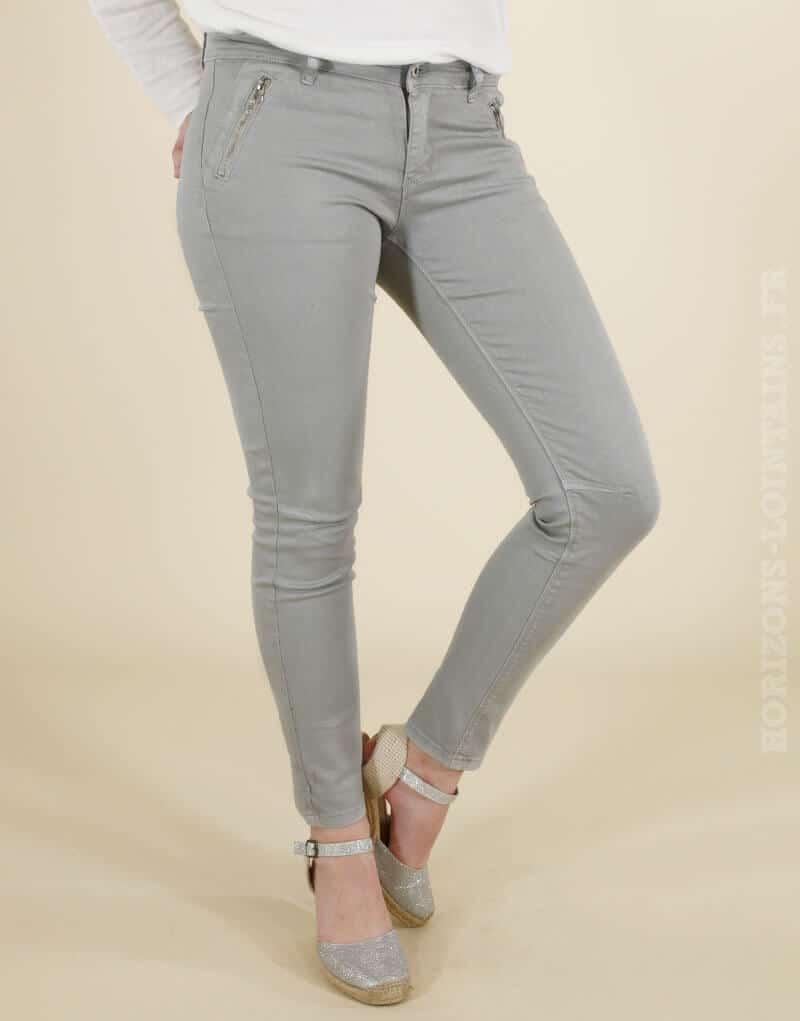 Pantalon chino gris Onado - LONDON - Horizons Lointains 571ced22a0b6