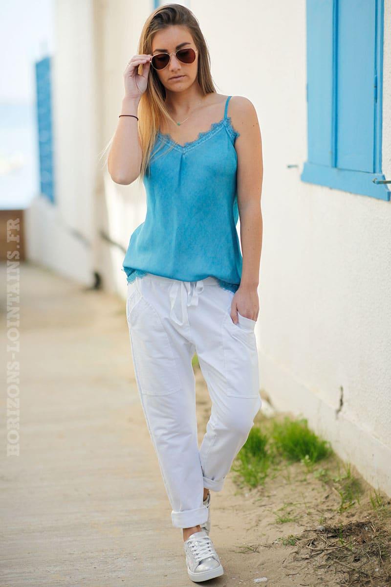 volume grand officiel design élégant Pantalon de jogging blanc urbain à poches