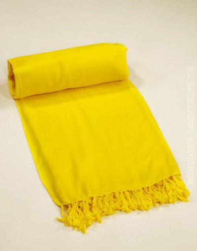 Paréos unis colorés jaune citron, taille 115 x 170 cm