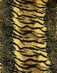 Parèo de plage long motif savane et fauve d'afrique