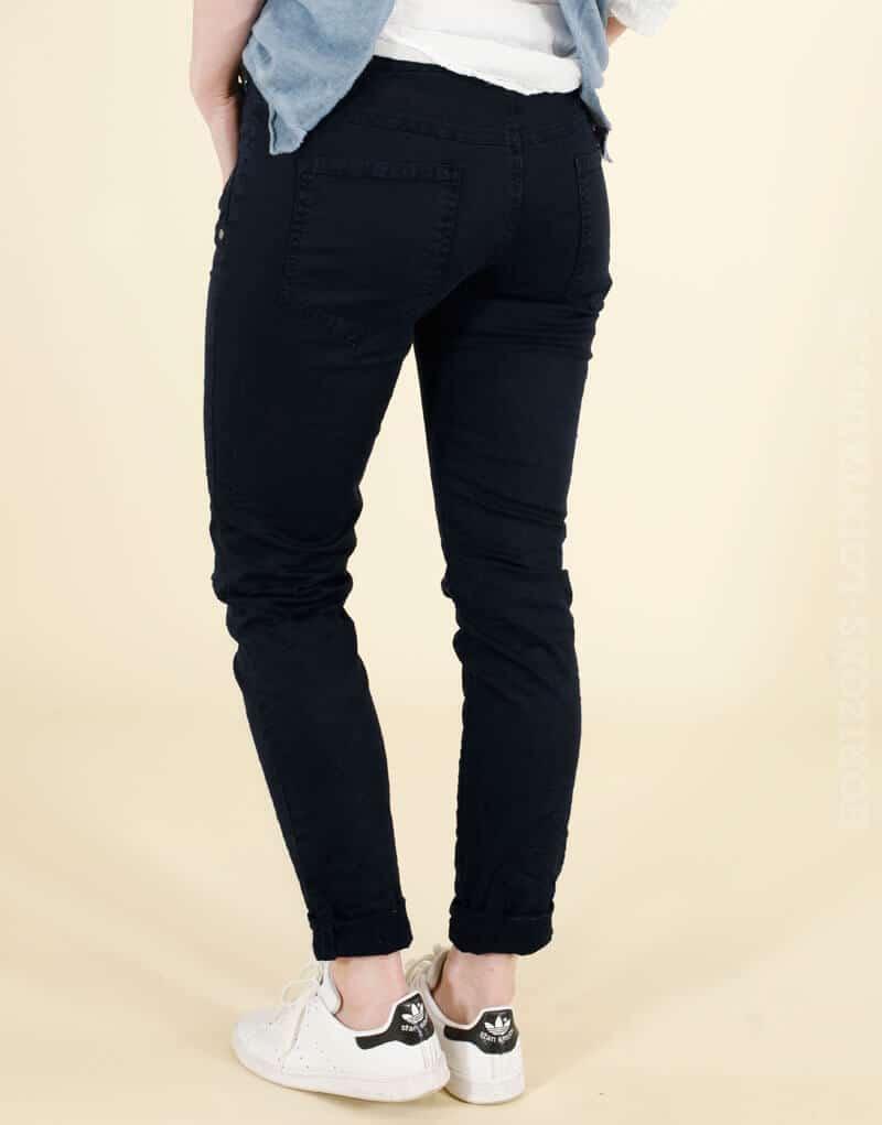 pantalon poches zip bleu marine lisboa horizons lointains. Black Bedroom Furniture Sets. Home Design Ideas