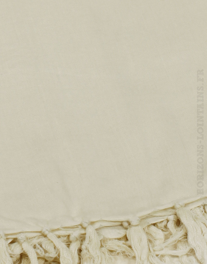 Paréo de plage grande taille, couleur beige sable