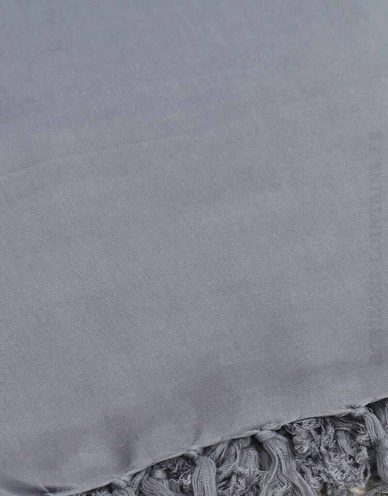 Paréo de plage grande taille, couleur gris clair