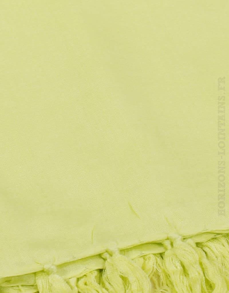 Paréo de plage grande taille, couleur jaune anis