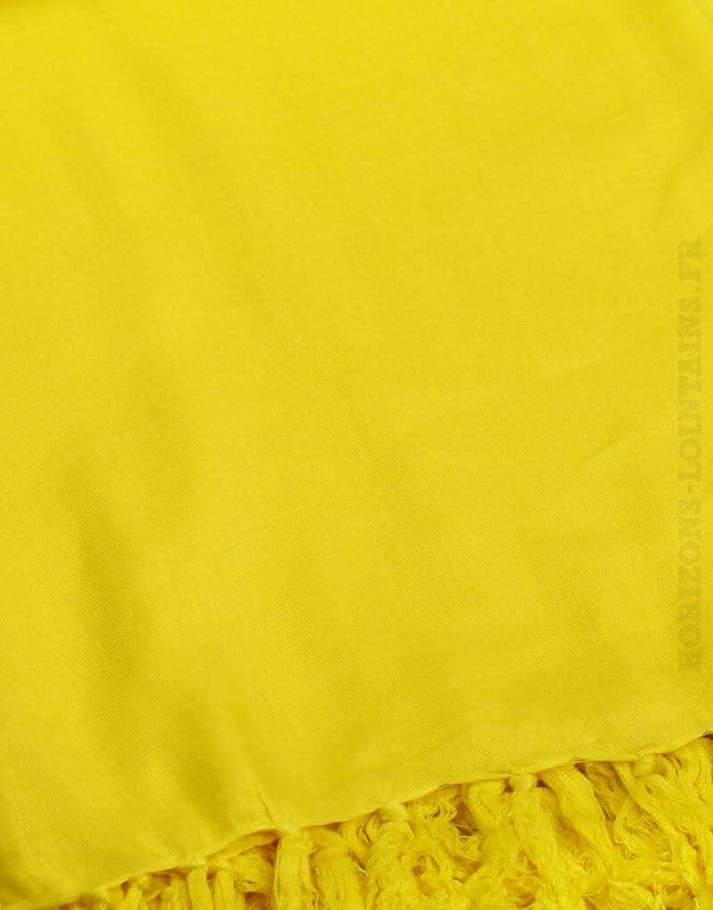 Paréo de plage grande taille, couleur jaune citron