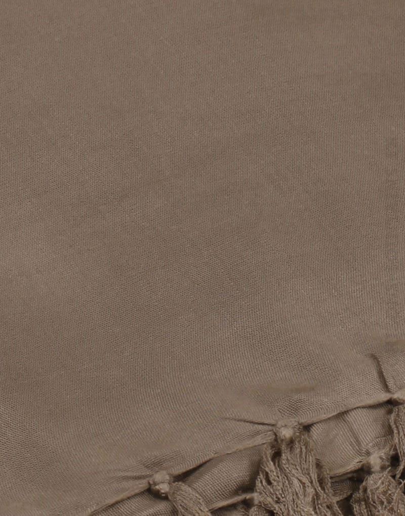 Paréo de plage grande taille, couleur marron clair