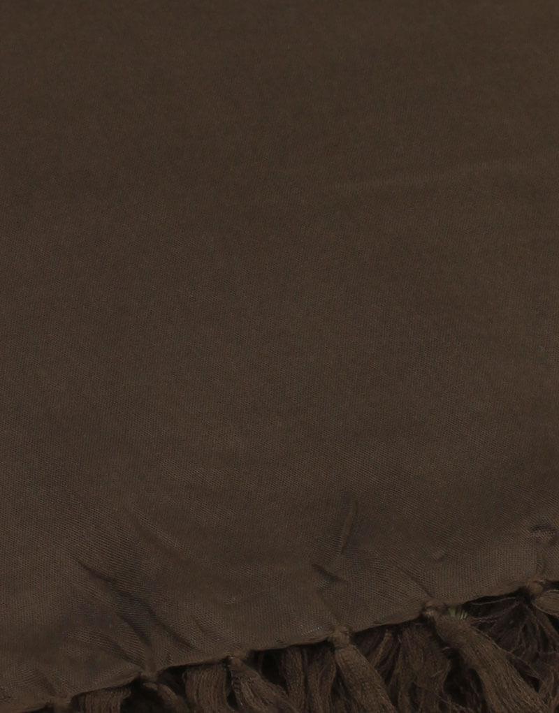 Paréo de plage grande taille, couleur chocolat
