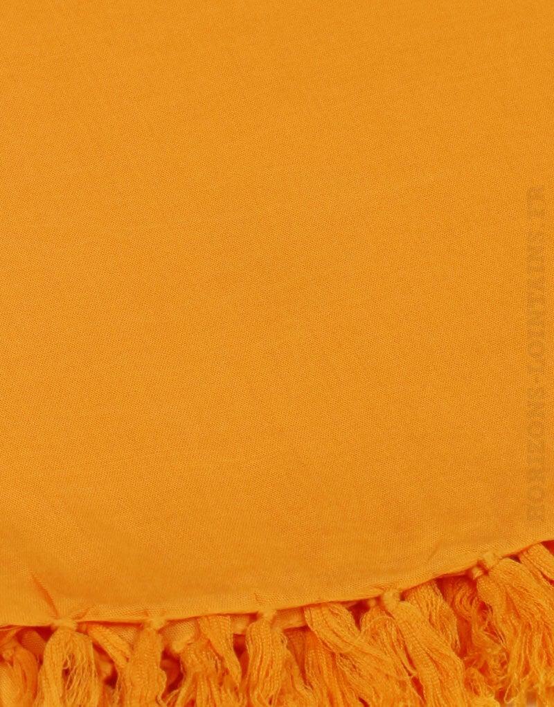 Paréo de plage grande taille, couleur orange abricot