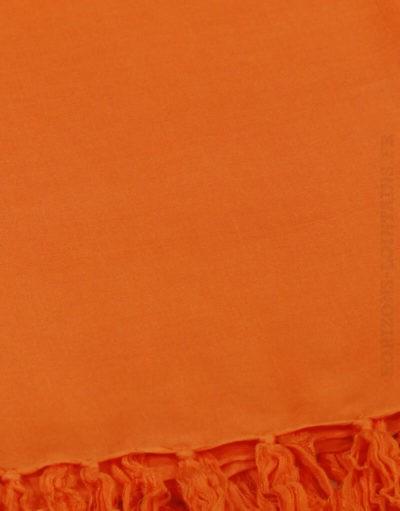 Paréo de plage grande taille, couleur orange foncé