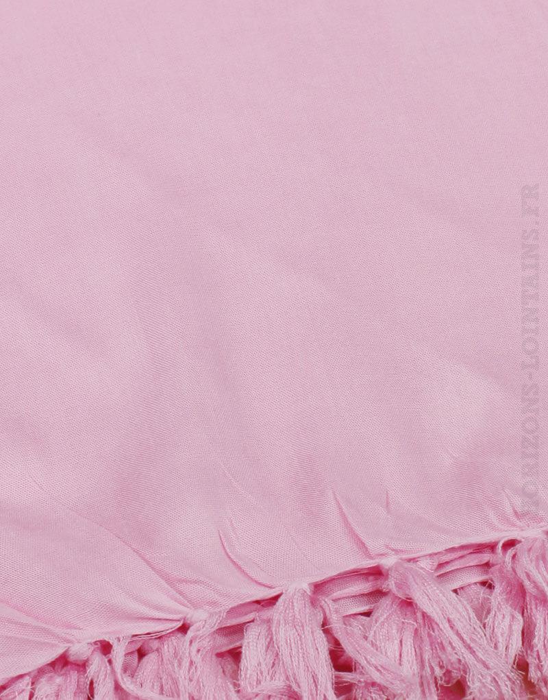 Paréo de plage grande taille, couleur rose baby