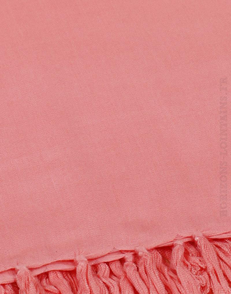 Paréo de plage grande taille, couleur rose corail