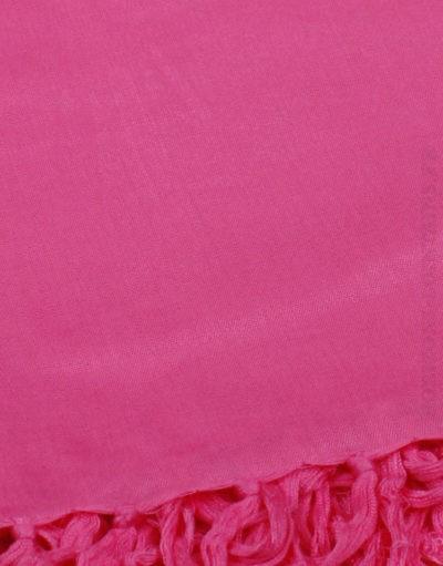 Paréo de plage grande taille, couleur rose fushia