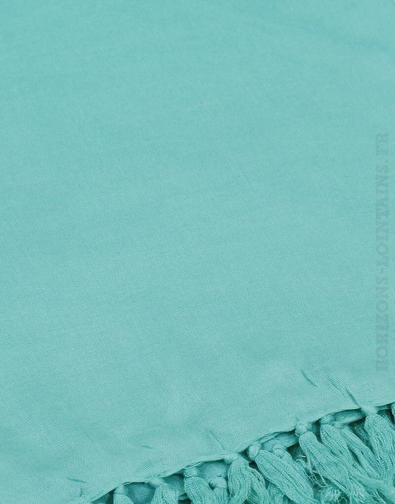 Paréo de plage grande taille, couleur turquoise golf