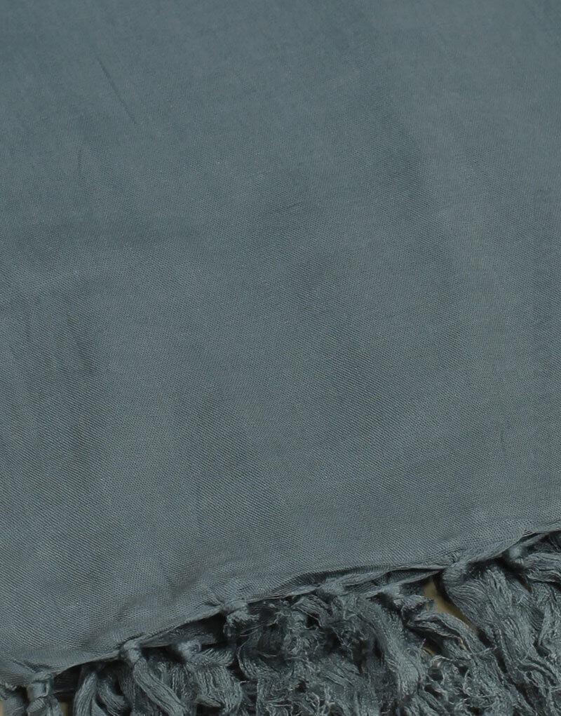 Paréo de plage grande taille, couleur vert de gris