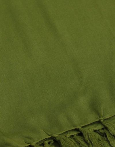 Paréo de plage grande taille, couleur vert kaki vif