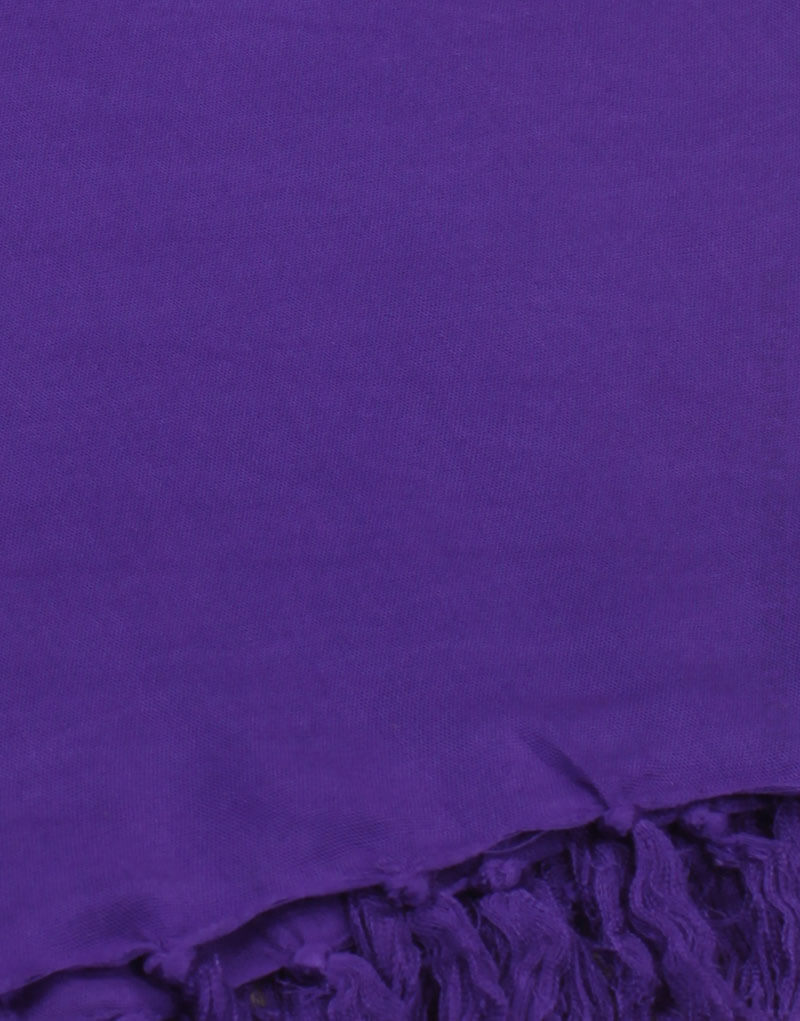 Paréo de plage grande taille, couleur violet