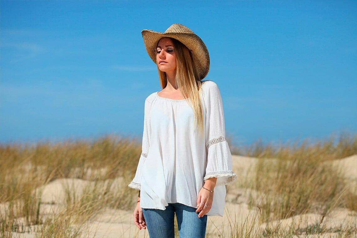 tuniques bohèmes blanches, idéale pour un look boho