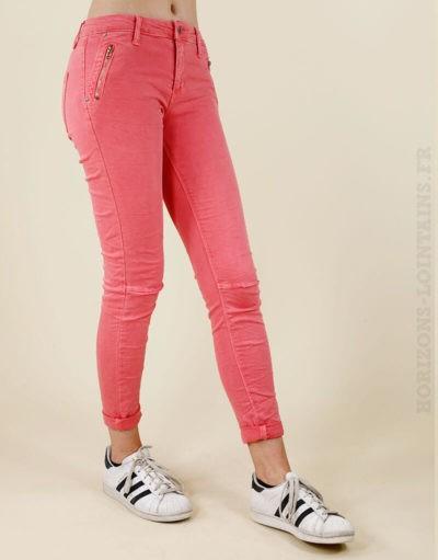 jean pantalon corail basique poches zip 01