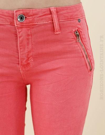 jean pantalon corail basique poches zip 04