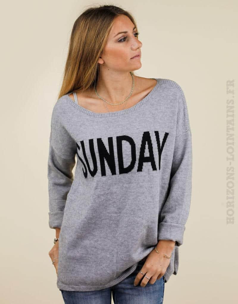 Pull Sunday gris - It Hippie 1