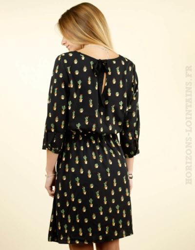 Robe noir motif cactus - It Hippie 2