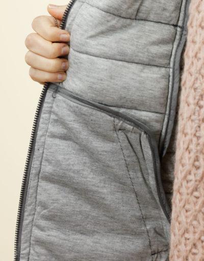 Doudoune légère cintrée grise