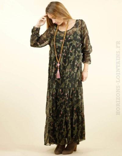 robe longue camo, fond de robe amovible 01