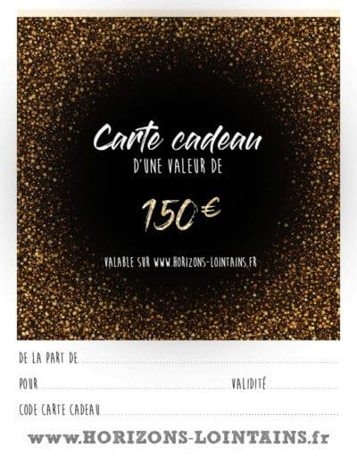 CARTE CADEAUX 150€
