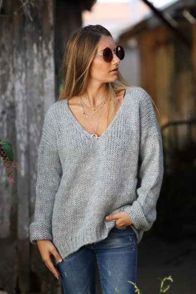 PULL-GROSSES-MAILLES-GRIS-100