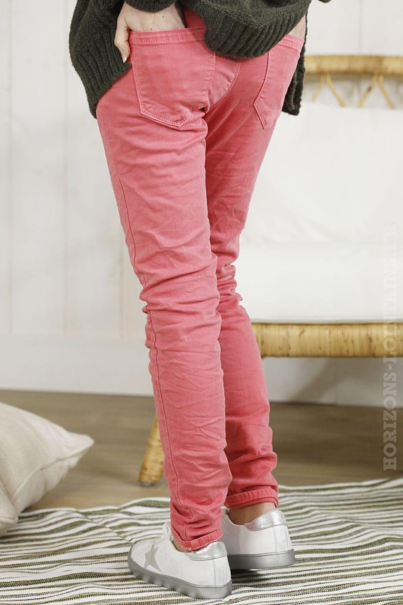 jean corail poches zip