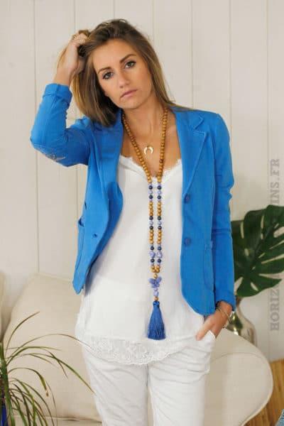 Blaser-jersey-étoile-coudes-bleu-roi-B01-2