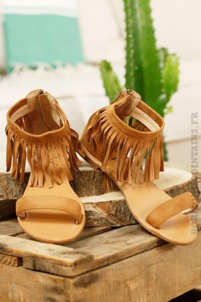 Sandales-camel,-franges-cheville-B15
