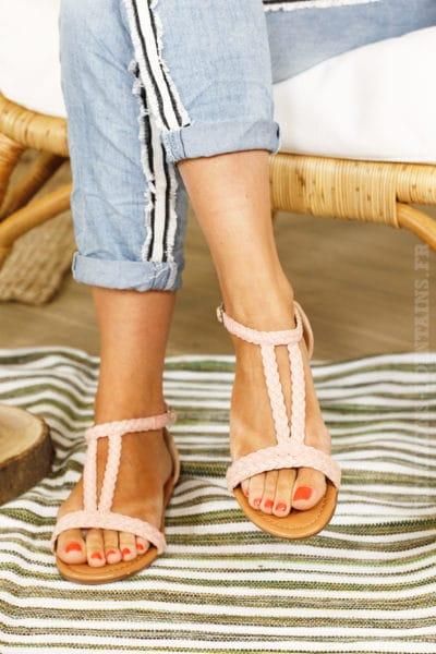 Sandales-roses-tressées-chaussures-été-B014-1