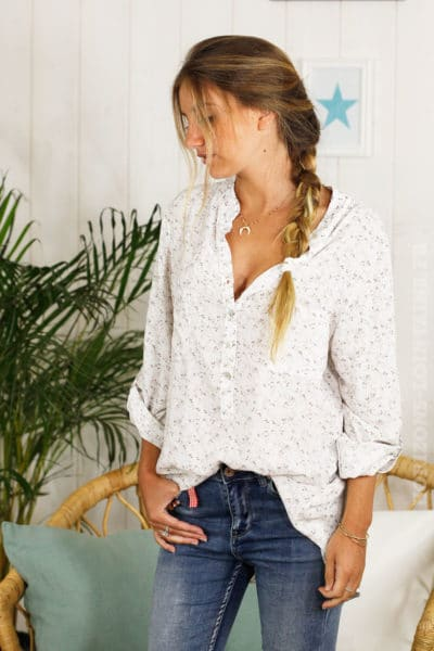 Chemise fluide blanche liberty