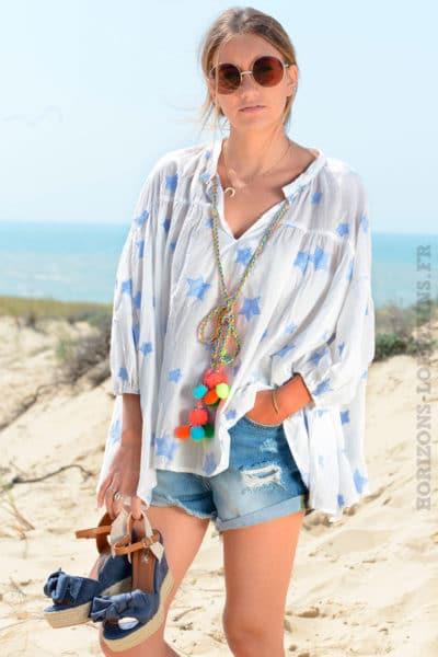 Blouse-blanche-en-coton-avec-étoiles-bleues-brodées-B107