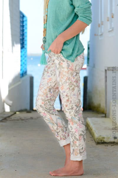 Pantalon-motif-nature-exotique-B11