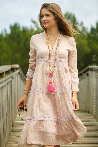 Robe-milongue-voile-coton-rose-poudré-B012-2