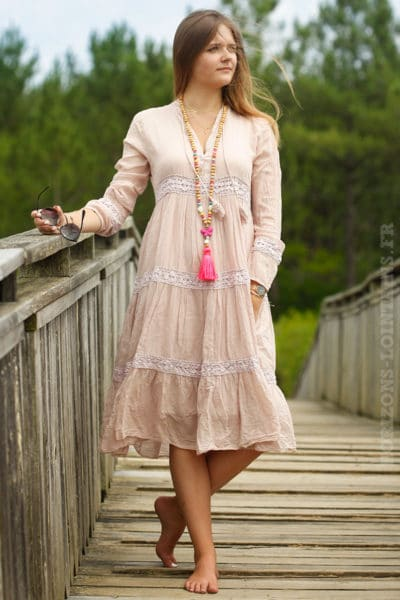 Robe-milongue-voile-coton-rose-poudré-B012-3