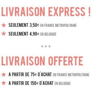 Livraison express pas cher, livraison offerte a partir de 75€ d'achats