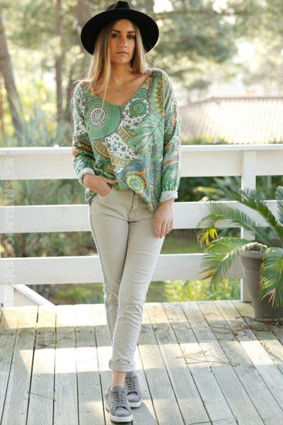 pantalon-jean-beige-bande-perlée-stretch-confort-B007