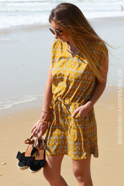 Robe moutarde motif It Hippie