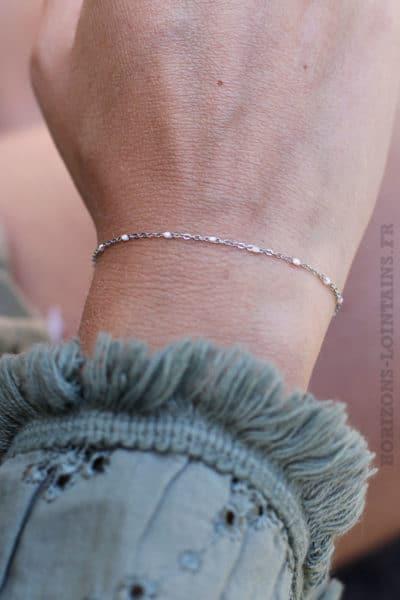 Bracelet-chaine-argent-perles-rose pale-84-2
