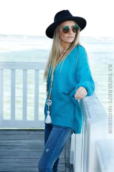 PULL-GROSSES-MAILLES-TURQUOISE-BLEU-CANARD-100