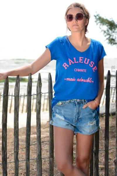 T-shirt-bleu-roi-message-raleuse-chiante-mais-adorable-B151