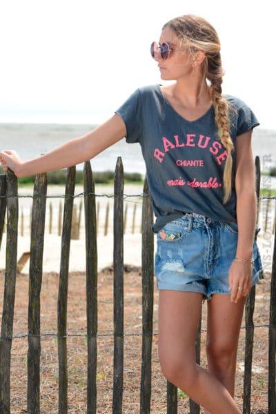 T-shirt-gris-message-raleuse-chiante-mais-adorable-B151