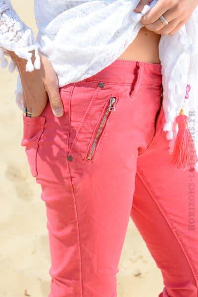 Jean framboise poches zip - MALIBU