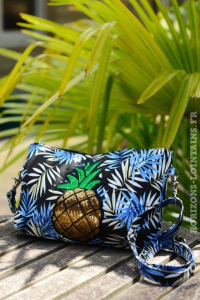 pochette-B024-toile-feuillage-ananas-bleu