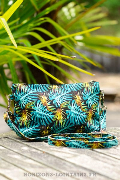 pochette-B024-toile-feuillage-ananas-turquoise