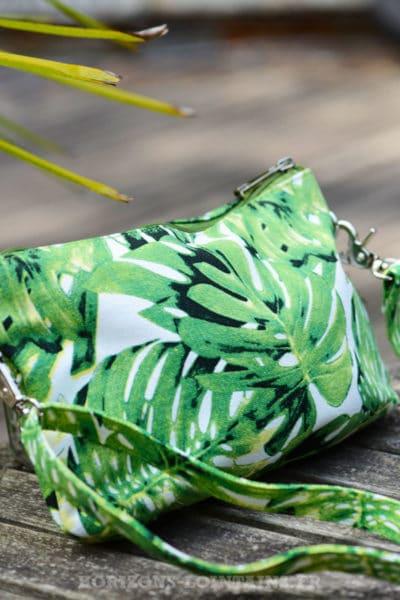 pochette-B024-toile-feuillage-ananas-vert-